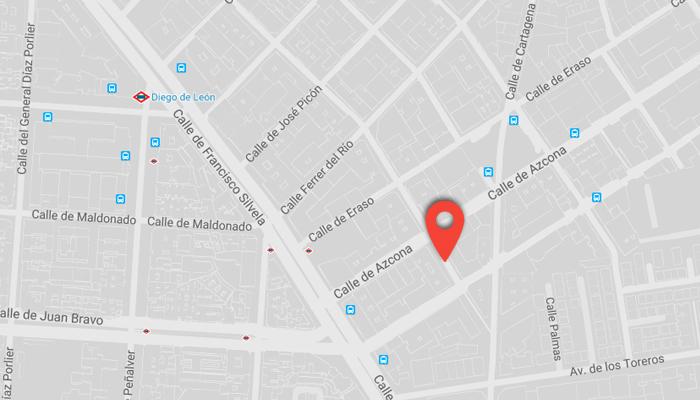 Mapa de Portalo's Escuela de baile en madrid y pilates maquinas